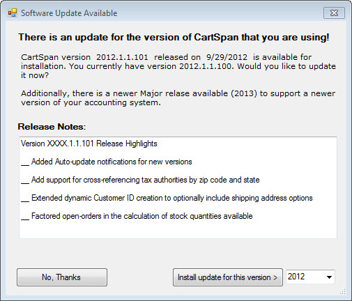 CartSpan Features the Deepest Integration Available for