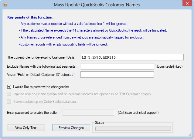 Renaming QuickBooks Customer Names